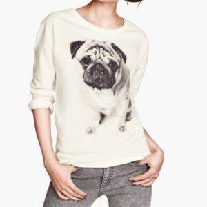 NWOT H&M Pug Sweater